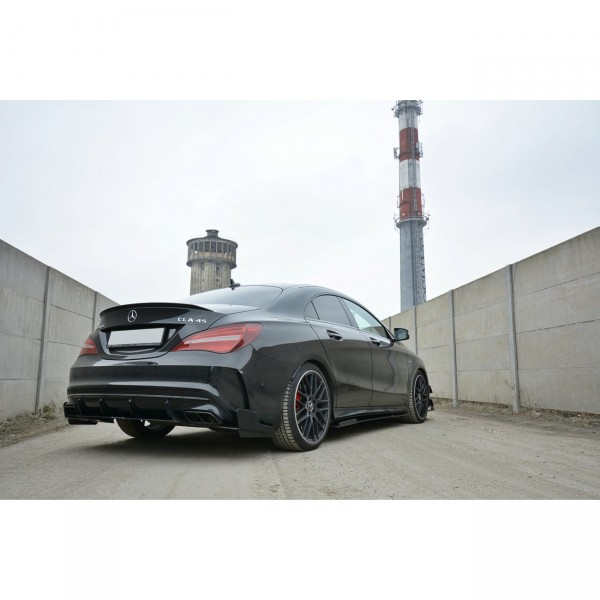 SPORT Heck Ansatz Flaps Diffusor passend für Mercedes CLA A45 AMG C117 Facelift