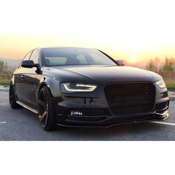 Front Ansatz passend für V.2 Audi S4 B8 Facelift schwarz Hochglanz
