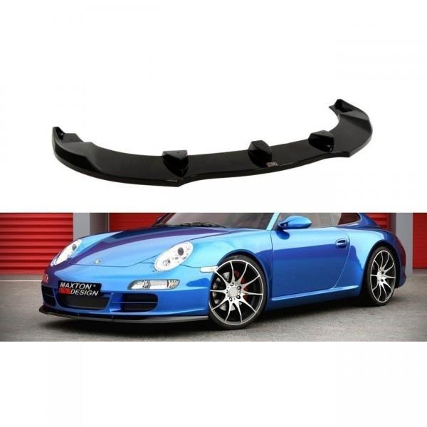 Front Ansatz passend für PORSCHE 911 Carrera 997.1 schwarz Hochglanz