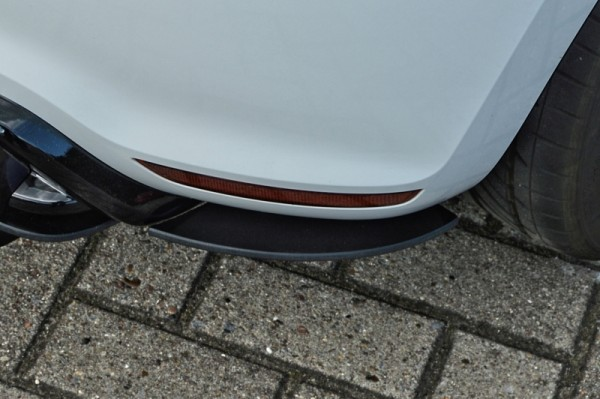 Heckansatz Seitlich Flaps links / rechts 2 tlg. Aus ABS gefräßt hochglanz schwarz Polo WRC Bj.: 2012
