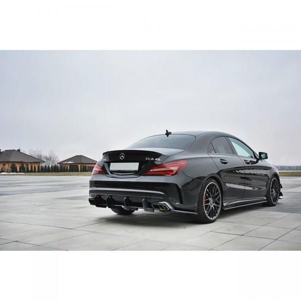 Diffusor Heck Ansatz passend für Heckschürze passend für V.1 Mercedes CLA A45 AMG C117 Facelift