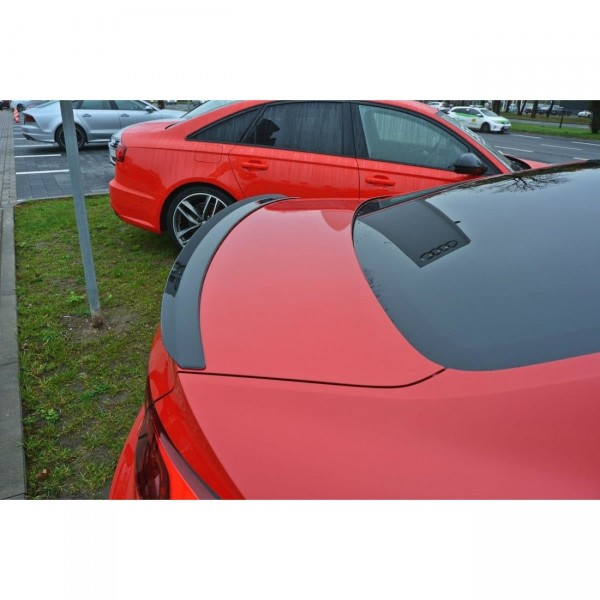 Spoiler CAP passend für Audi A5 F5 S-Line schwarz Hochglanz