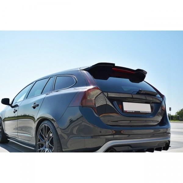 Spoiler CAP passend für Volvo V60 Polestar Facelift schwarz Hochglanz