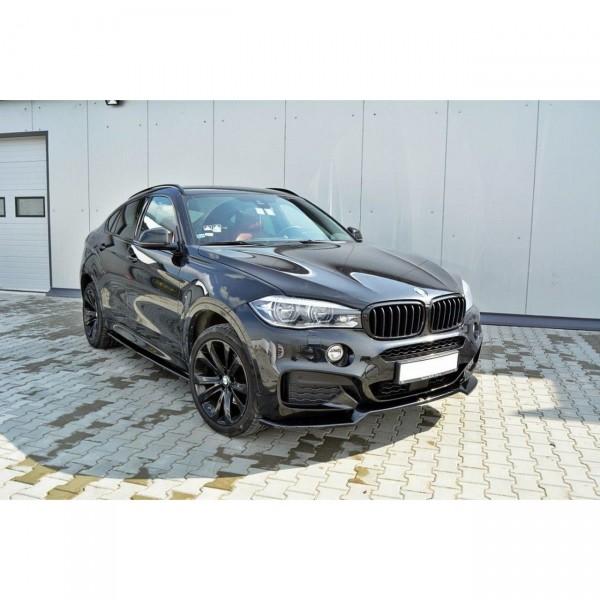 Front Ansatz passend für v.1 BMW X6 F16 M Paket schwarz Hochglanz