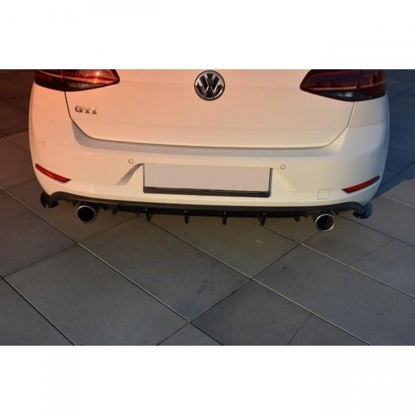 Diffusor Heck Ansatz passend für VW GOLF 7 GTI FACELIFT Carbon Look