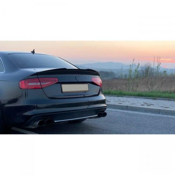 Spoiler CAP passend für Audi S4 B8 Facelift schwarz matt