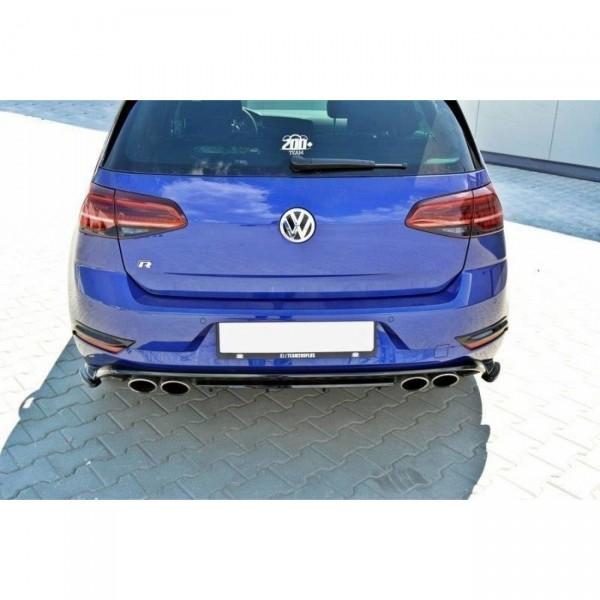 Heck Ansatz Flaps Diffusor passend für VW GOLF 7 R Facelift Carbon Look