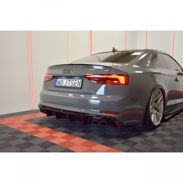 Diffusor Heck Ansatz passend für AUDI S5 F5 Carbon Look
