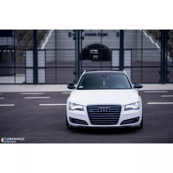 Front Ansatz passend für V.1 Audi A8 D4 schwarz matt