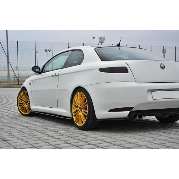 Heck Ansatz Flaps Diffusor passend für Alfa Romeo GT schwarz Hochglanz