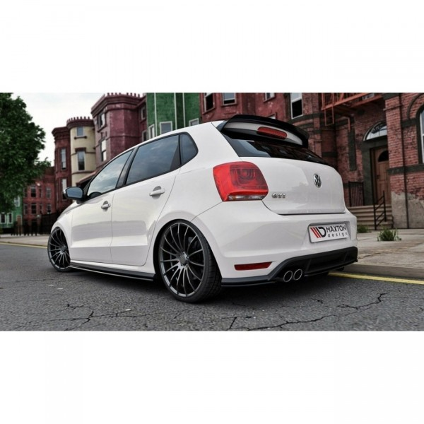 Diffusor Heck Ansatz passend für VW POLO MK5 GTI Facelift DTM LOOK schwarz matt