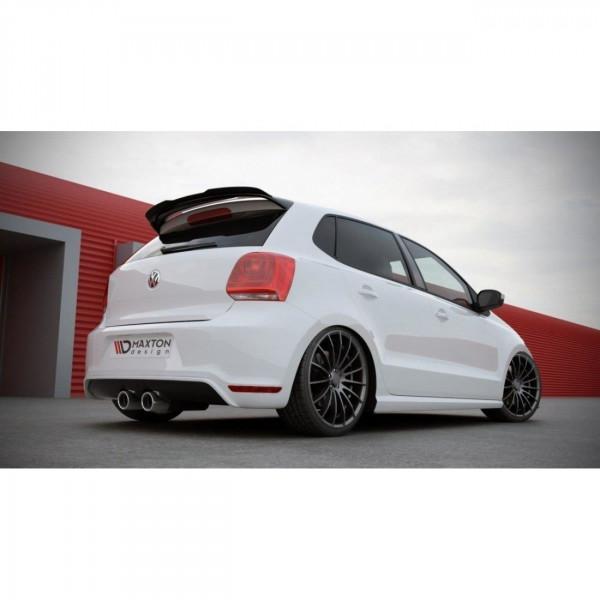 Spoiler CAP passend für VW POLO MK5 (R WRC LOOK) schwarz matt