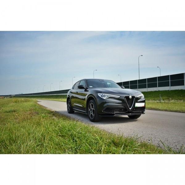 Seitenschweller Ansatz passend für Alfa Romeo Stelvio schwarz Hochglanz
