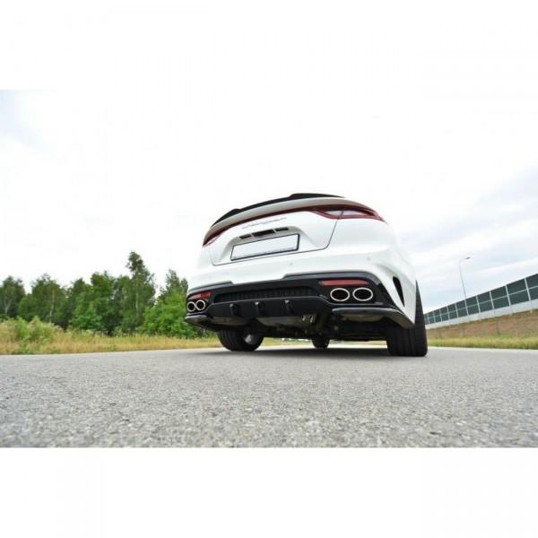 Diffusor Heck Ansatz passend für KIA STINGER GT Carbon Look