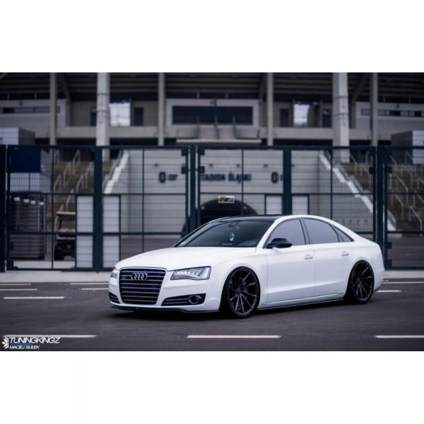 Seitenschweller Ansatz passend für Audi A8 D4 Carbon Look