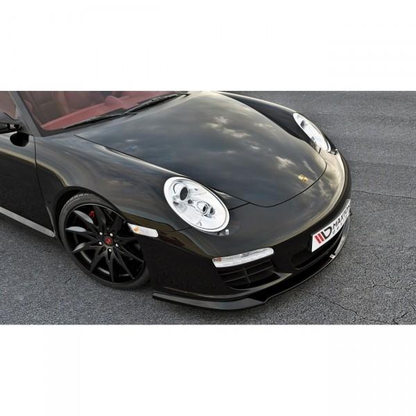 Front Ansatz passend für PORSCHE 911 Carrera 997.2 Facelift schwarz Hochglanz
