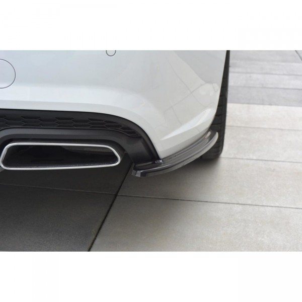 Heck Ansatz Flaps Diffusor passend für Audi A6 C7 Avant S-line/ S6 C7 Facelift schwarz Hochglanz