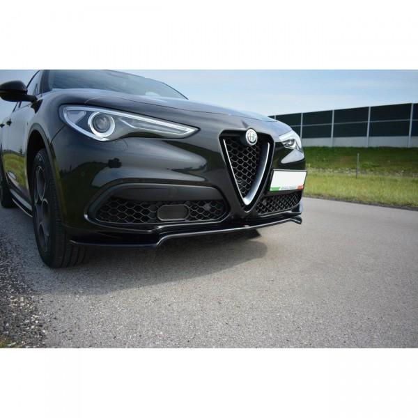 Front Ansatz passend für V.1 Alfa Romeo Stelvio Carbon Look