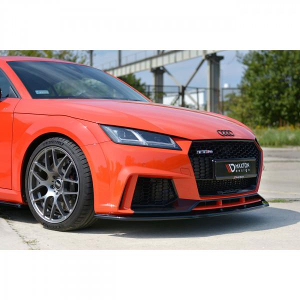Front Ansatz passend für V.1 Audi TT Mk3 (8S) RS schwarz Hochglanz