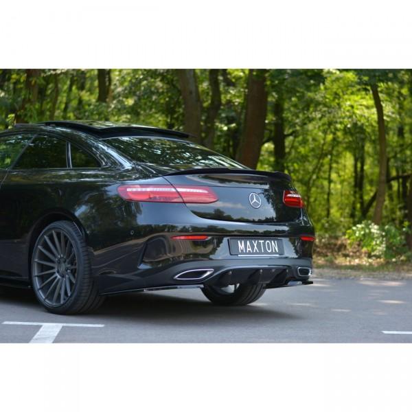 Diffusor Heck Ansatz passend für Mercedes E-KLASSE W213 COUPE AMG-LINE schwarz Hochglanz