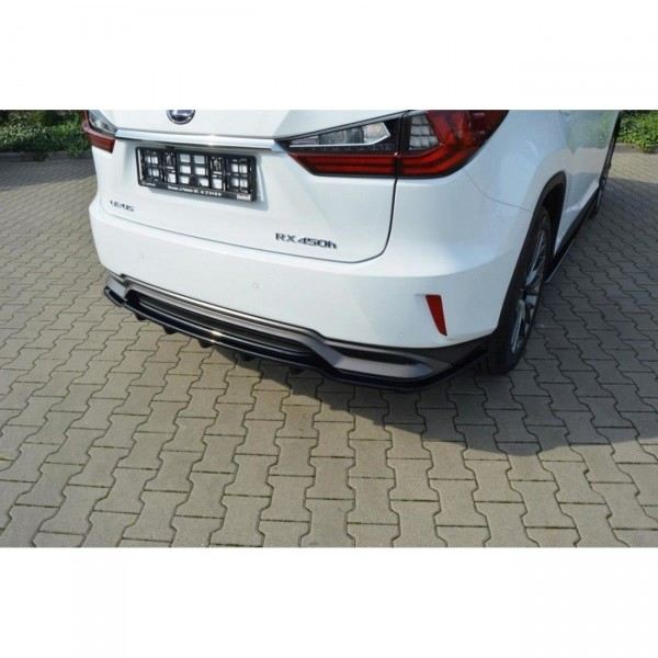 Mittlerer Diffusor Heck Ansatz passend für Lexus RX Mk4 H DTM LOOK schwarz Hochglanz