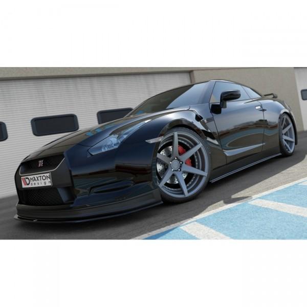Seitenschweller Ansatz passend für NISSAN GT-R vor Facelift COUPE (R35-SERIES) schwarz Hochglanz