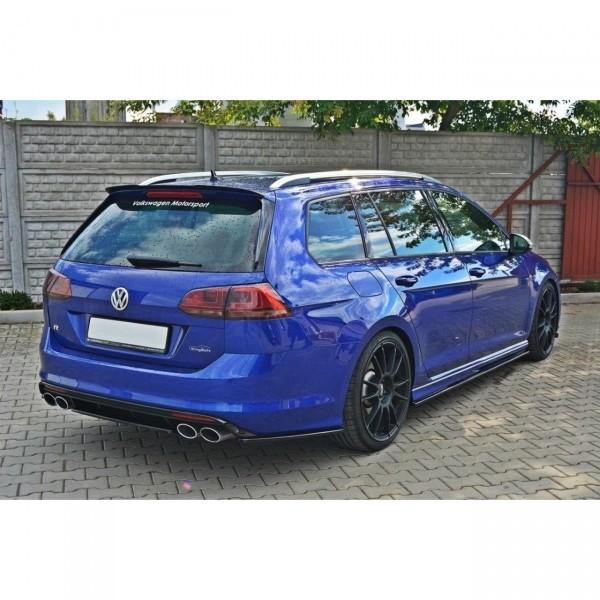 Mittlerer Diffusor Heck Ansatz passend für VW GOLF 7 R VARIANT Carbon Look