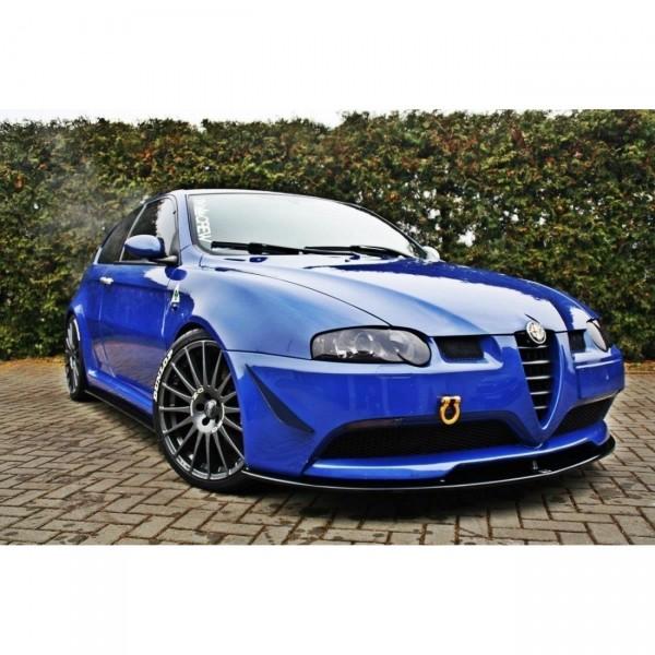 Front Ansatz passend für ALFA ROMEO 147 GTA schwarz Hochglanz