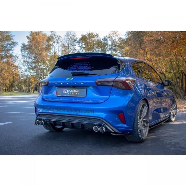 Diffusor Heck Ansatz passend für Ford Focus Mk4 St-line schwarz Hochglanz