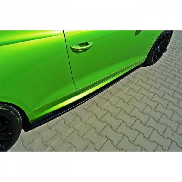 Seitenschweller Ansatz passend für VW SCIROCCO R schwarz Hochglanz