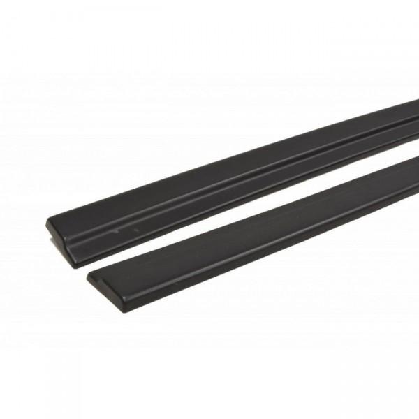 Seitenschweller Ansatz passend für AUDI A7 S-LINE (FACELIFT) schwarz matt
