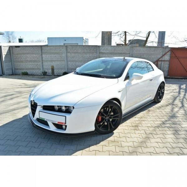 Front Ansatz passend für Alfa Romeo Brera schwarz Hochglanz