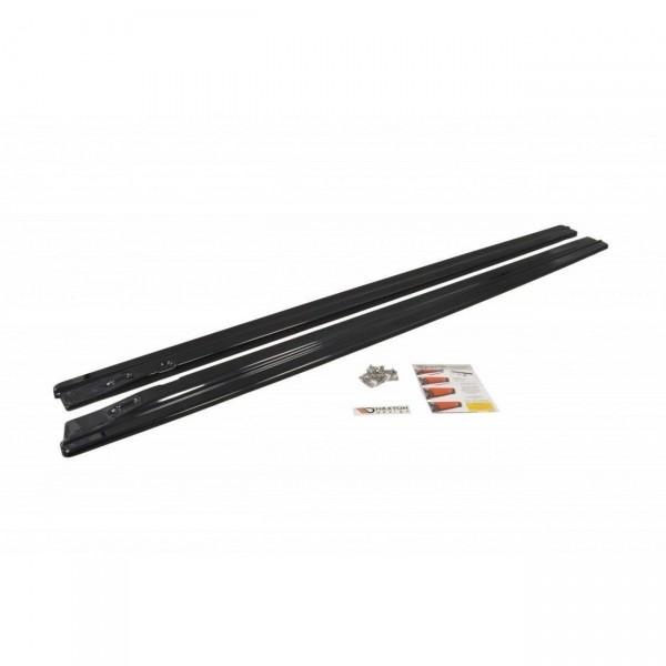 Seitenschweller Ansatz passend für AUDI A4/ S4 B8 schwarz matt