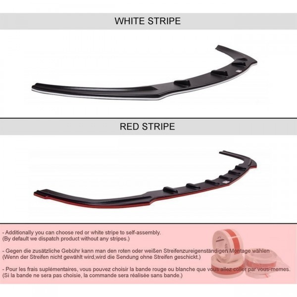 Front Ansatz passend für v.1 CITROEN DS5 FACELIFT, PREFACE schwarz matt