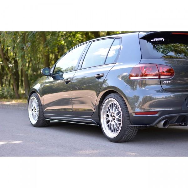 Seitenschweller Ansatz passend für VW GOLF 6 GTI/ GTD schwarz Hochglanz