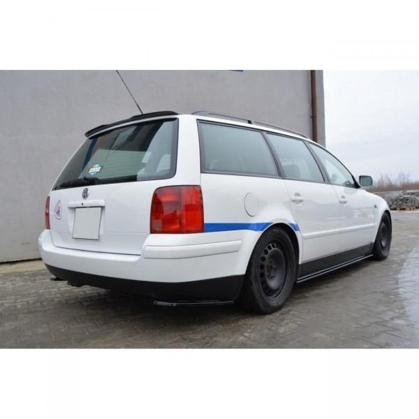 Heck Ansatz Flaps Diffusor passend für VW PASSAT B5 Kombi Carbon Look