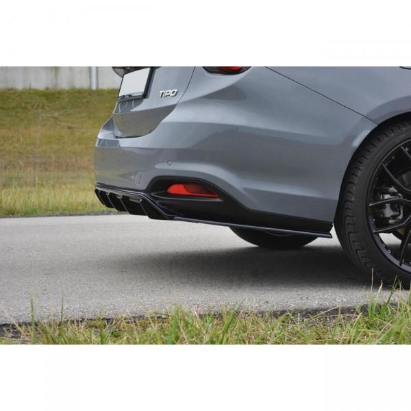 Diffusor Heck Ansatz passend für Fiat Tipo S-Design schwarz Hochglanz