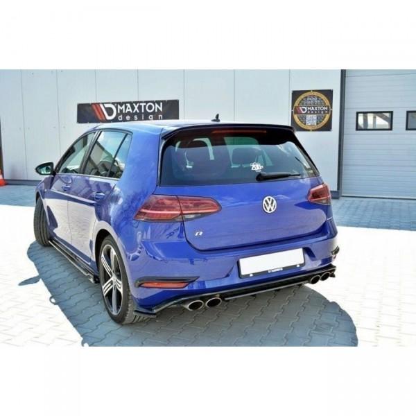Hintere Nebelleuchten Abdeckung VW GOLF 7 R Facelift schwarz matt
