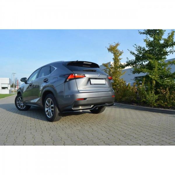 Mittlerer Diffusor Heck Ansatz passend für Lexus NX Mk1 H DTM LOOK schwarz matt