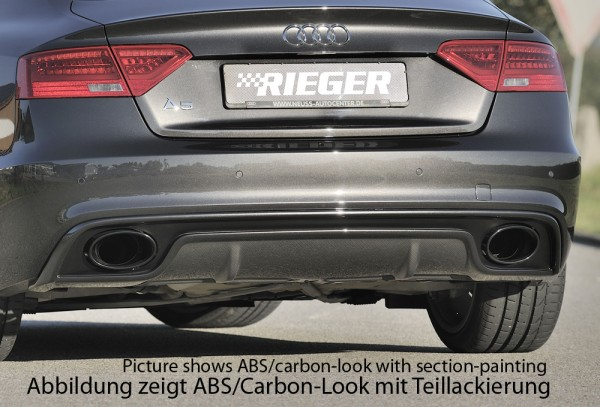 Rieger Heckeinsatz Audi A5 S5 (B8/B81) Sportback