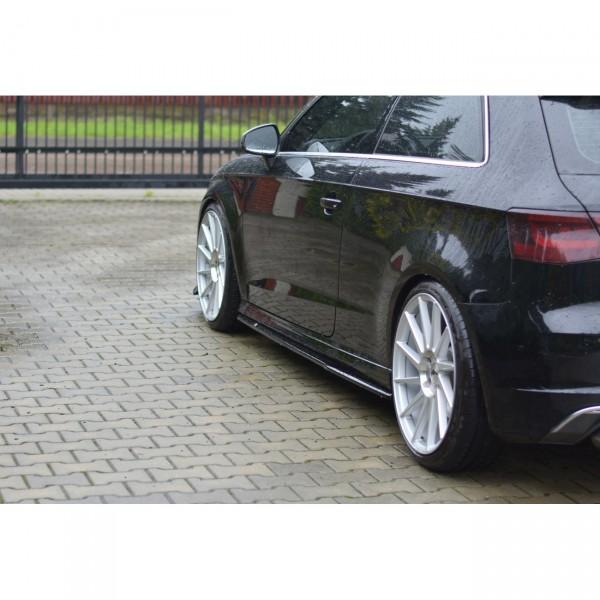Seitenschweller Ansatz passend für AUDI S3 8V 3 TÜREN VERSION schwarz matt