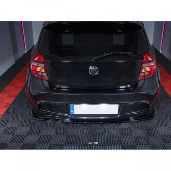 Diffusor Heck Ansatz passend für im DTM LOOK BMW 1er E81/ E87 M Paket FACELIFT Carbon Look