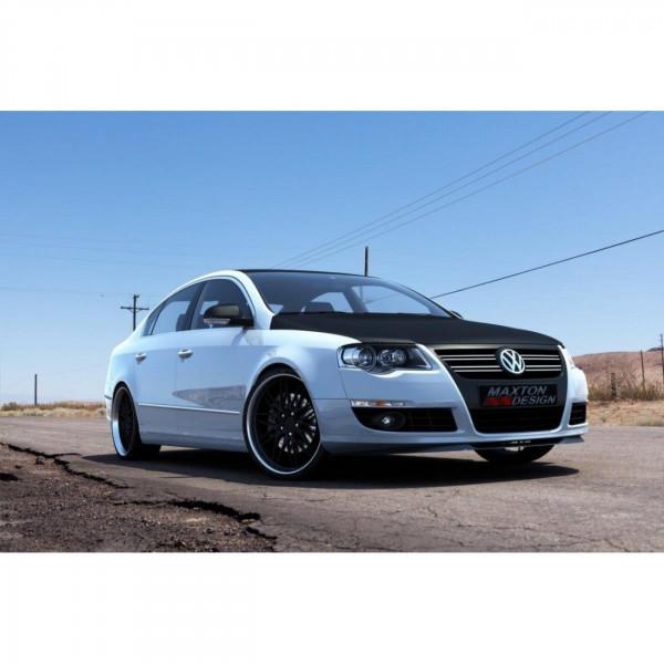 Front Ansatz passend für VW PASSAT B6 schwarz matt