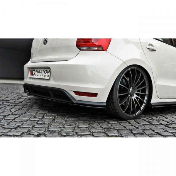 Diffusor Heck Ansatz passend für POLO MK5 GTI Facelift Carbon Look