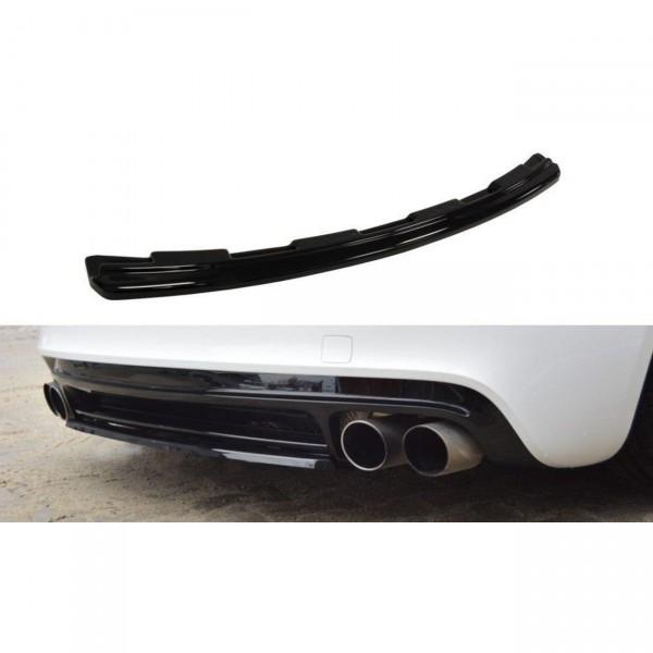 Mittlerer Diffusor Heck Ansatz passend für AUDI TT MK2 RS schwarz Hochglanz