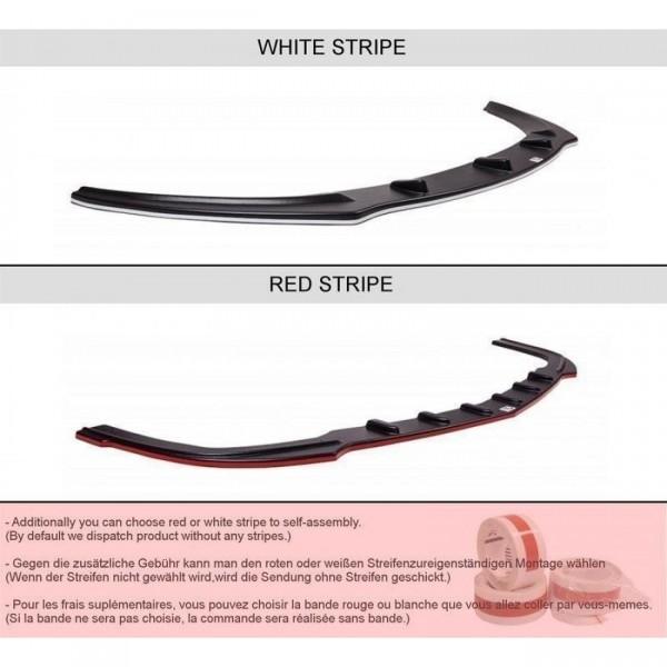 Heck Ansatz Flaps Diffusor passend für HONDA CIVIC VIII TYPE S/R schwarz matt