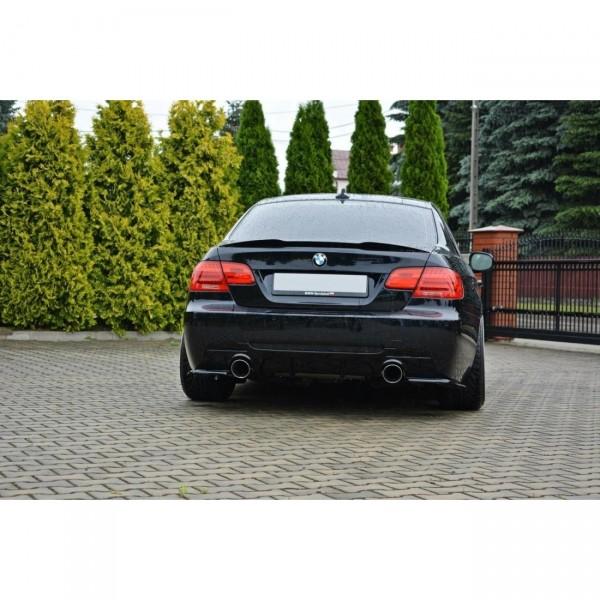Spoiler CAP passend für BMW 3er E92 M Paket schwarz Hochglanz