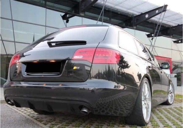Spoiler Diffusor für Audi A6 4F Heckschürze C6 Heckansatz Stoßstange S-Line S