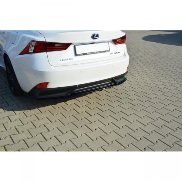 Mittlerer Diffusor Heck Ansatz passend für Lexus IS Mk3 H DTM LOOK schwarz Hochglanz