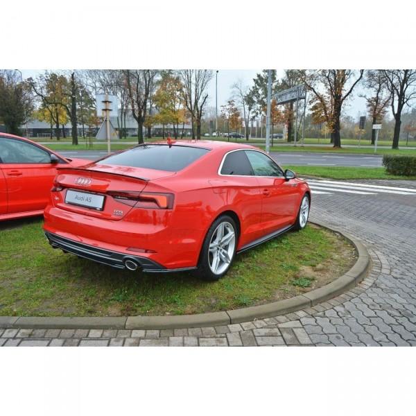 Seitenschweller Ansatz passend für Audi A5 F5 S-Line schwarz Hochglanz